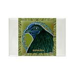 Framed Sumatra Rooster Rectangle Magnet (10 pack)