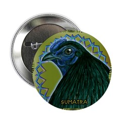 "Framed Sumatra Rooster 2.25"" Button (100 pack"
