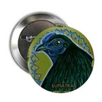 """Framed Sumatra Rooster 2.25"""" Button"""