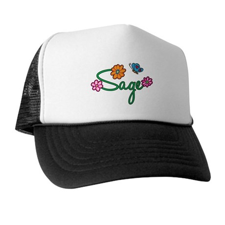 Sage Flowers Trucker Hat
