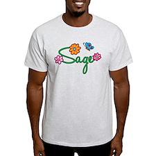 Sage Flowers T-Shirt