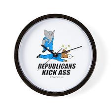 Republicans kick ass -  Wall Clock