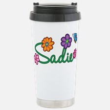 Sadie Flowers Stainless Steel Travel Mug