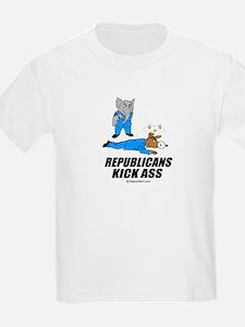 Republicans kick ass -  Kids T-Shirt