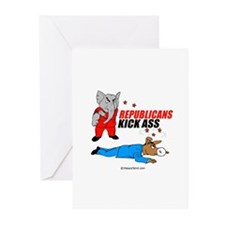 Republicans kick ass - Greeting Cards (Package of