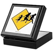 Caution: Illegal Immigrant Crossing - Keepsake Box