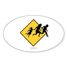 Caution: Illegal Immigrant Crossing - Decal