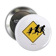 Caution: Illegal Immigrant Crossing - Button