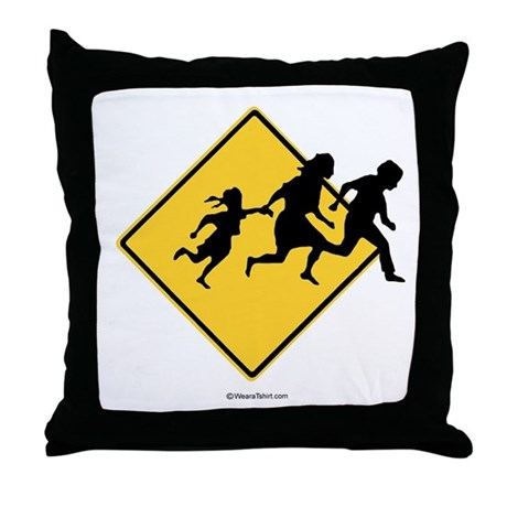 Caution: Illegal Immigrant Crossing - Throw Pillo