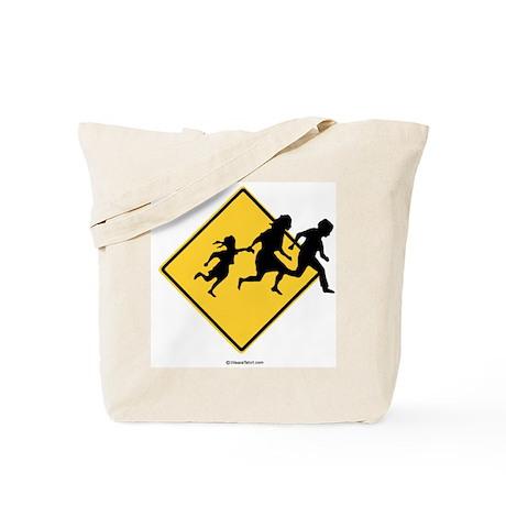 Caution: Illegal Immigrant Crossing - Tote Bag