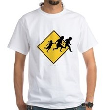 Caution: Illegal Immigrant Crossing - White T-shi