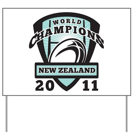 Rugby Champions New Zealand Yard Sign