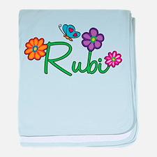 Rubi Flowers baby blanket
