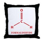 Formaldehyde Molecule Throw Pillow