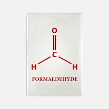 Formaldehyde Molecule Rectangle Magnet