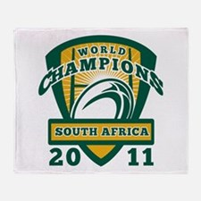 Rugby Champions south africa Throw Blanket