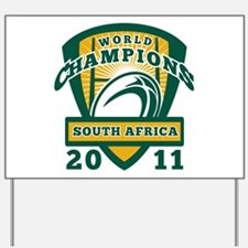 Rugby Champions south africa Yard Sign