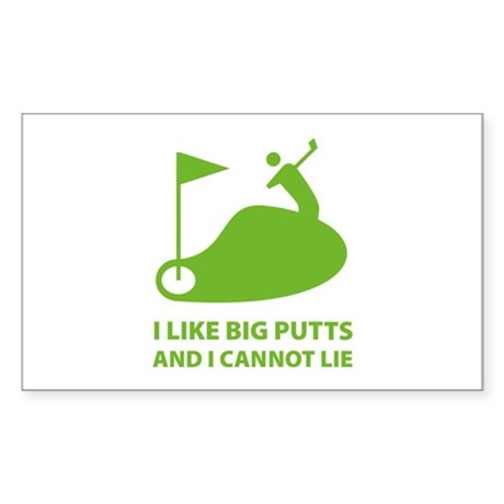 I like big putts Sticker (Rectangle 50 pk)