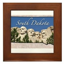 Cute South dakota Framed Tile