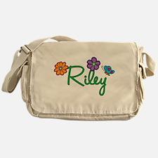 Riley Flowers Messenger Bag