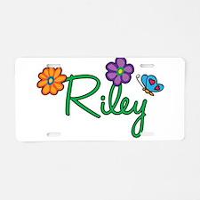 Riley Flowers Aluminum License Plate