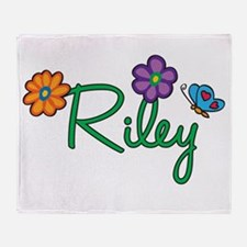 Riley Flowers Throw Blanket