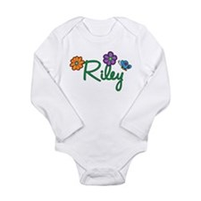 Riley Flowers Long Sleeve Infant Bodysuit