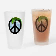 Unique Peace frog Drinking Glass