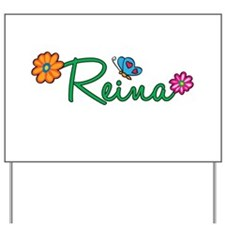 Reina Flowers Yard Sign