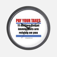 Pay your taxes -  Wall Clock