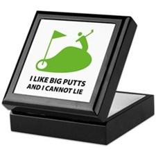 I like big putts Keepsake Box
