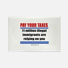 Pay your taxes - Rectangle Magnet