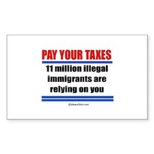 Pay your taxes - Rectangle Decal