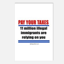 Pay your taxes -  Postcards (Package of 8)