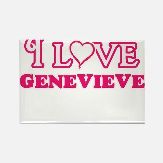 I Love Genevieve Magnets