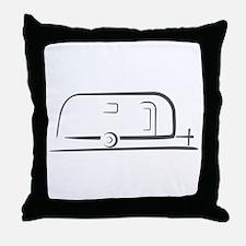 Airstream Silhouette Throw Pillow