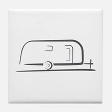 Airstream Silhouette Tile Coaster