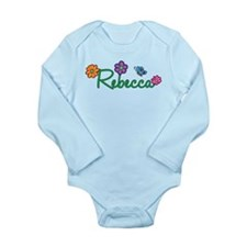 Rebecca Flowers Long Sleeve Infant Bodysuit