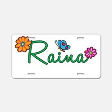 Raina Flowers Aluminum License Plate