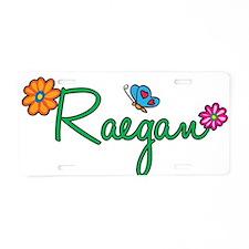 Raegan Flowers Aluminum License Plate