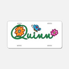 Quinn Flowers Aluminum License Plate