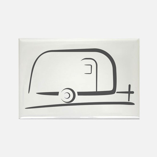 Airstream Silhouette Rectangle Magnet