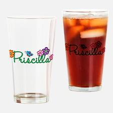 Priscilla Flowers Drinking Glass