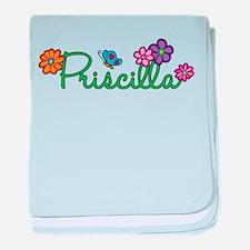Priscilla Flowers baby blanket