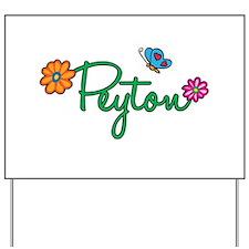 Peyton Flowers Yard Sign