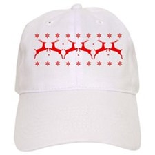 Stags And Flakes - Red Baseball Cap