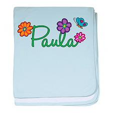 Paula Flowers baby blanket