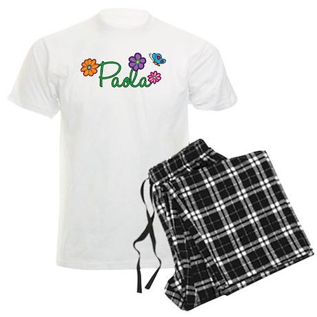 Paola Flowers Men's Light Pajamas