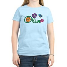 Olive Flowers T-Shirt