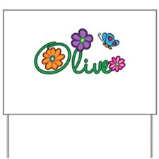 Olive Flowers Yard Sign